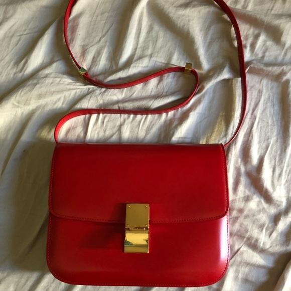 Celine Bags   100 Authentic Medium Red Box Bag   Poshmark ad8638a79d